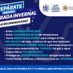 Alerta Protección Civil Municipal por entrada de frente frío número 1