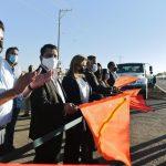 Inaugura Gobernadora Maru Campos rehabilitación de Acceso Norte en Delicias