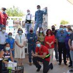 Instala Cecytech centro de acopio en apoyo a brigadistas que combaten incendios forestales en la Sierra Tarahumara
