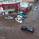Atiende H. Cuerpo de Bomberos incidentes por repentina lluvia al norte de la ciudad